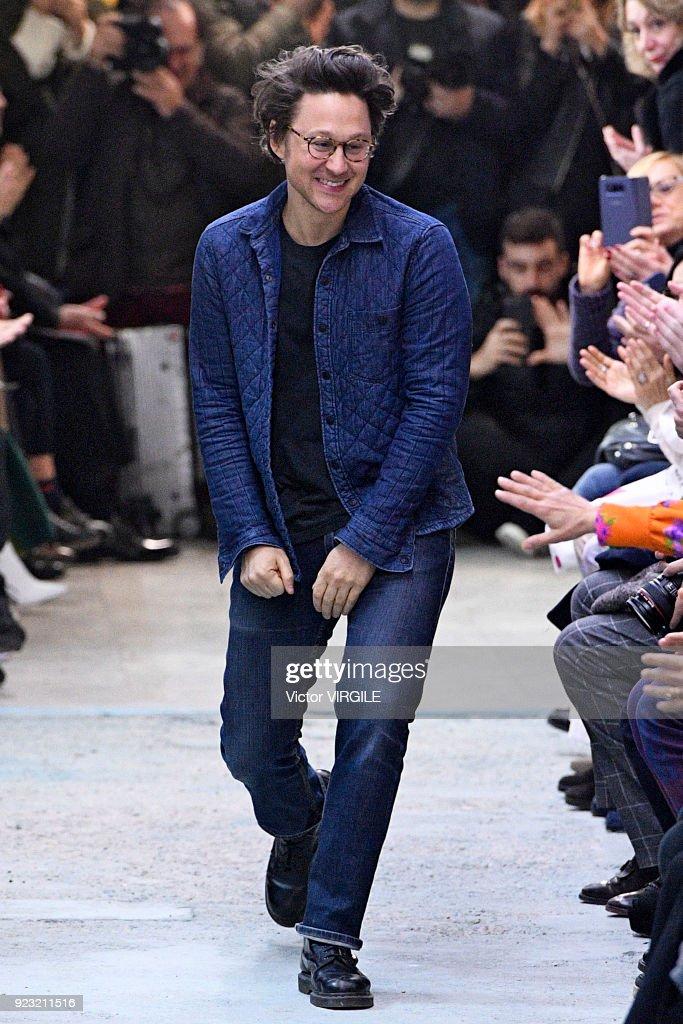 Fashion designer Arthur Arbesser walks the runway at the Arthur Arbesser Ready to Wear Fall/Winter 2018-2019 fashion show during Milan Fashion Week Fall/Winter 2018/19 on February 21, 2018 in Milan, Italy.