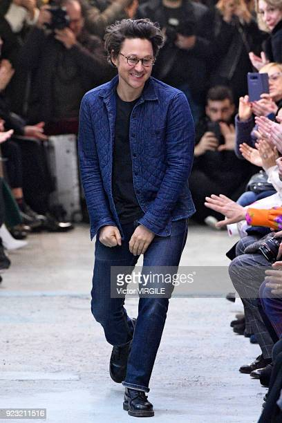 Fashion designer Arthur Arbesser walks the runway at the Arthur Arbesser Ready to Wear Fall/Winter 20182019 fashion show during Milan Fashion Week...