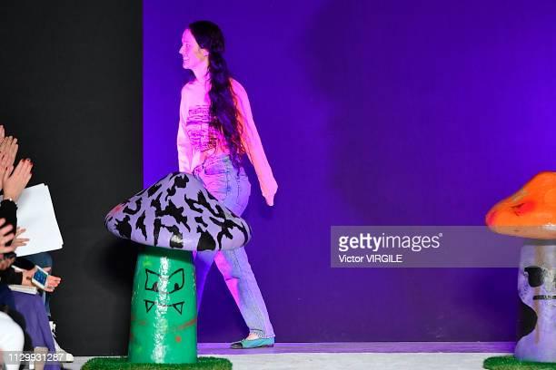 Fashion designer Ashley Williams walks the runway at the Ashley Williams Ready to Wear Fall/Winter 20192020 fashion show during London Fashion Week...