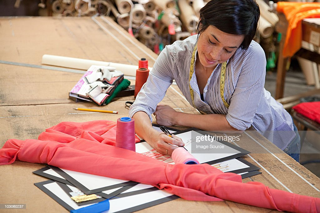 Fashion designer at work : Stock Photo
