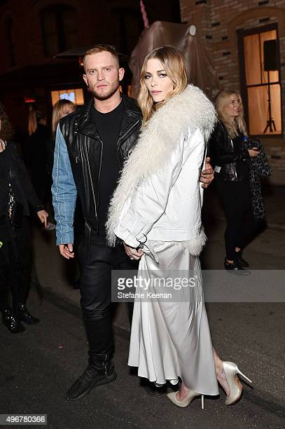 Fashion designer August Getty and actress Jaime King attend the August Getty Atelier SS 2016 'The Thread Of Man' Presentation With David LaChapelle...