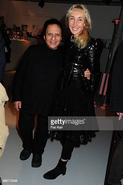 Fashion designer Azzedine Alaia and Franca Sozzani from Italian Vogue attend the Memphis Blue Design Exhibition Wednesday at the Azzedine Alaia...