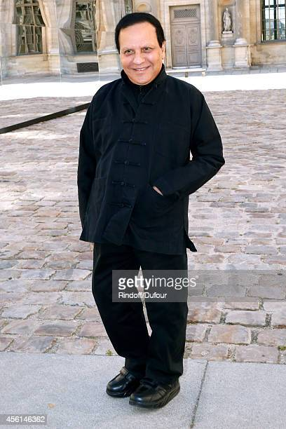 Fashion designer Azzedine Alaia attends the Christian Dior show as part of the Paris Fashion Week Womenswear Spring/Summer 2015 on September 26 2014...