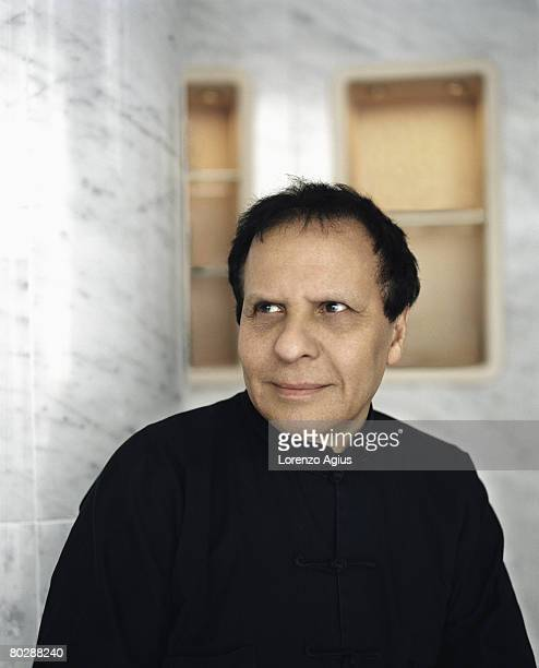 Fashion designer Azzedine Alaia poses for a portrait shoot for Esquire magazine London on December 5 2007