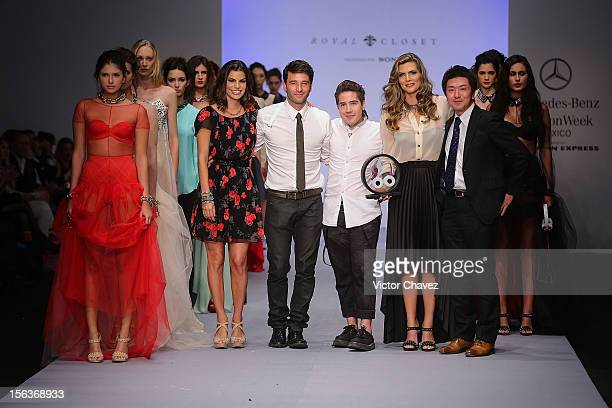 Fashion designer Barbara Coppel Cory Crespo guest Monserrat Oliver Sony company member and models walk the runway during the second day of...