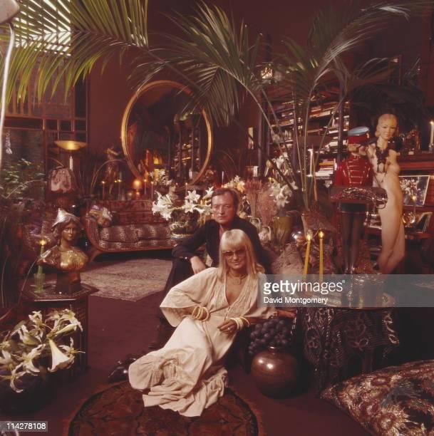 Fashion designer Barbara Hulanicki the founder of iconic London fashion store Biba with her husband Stephen FitzSimon circa 1975