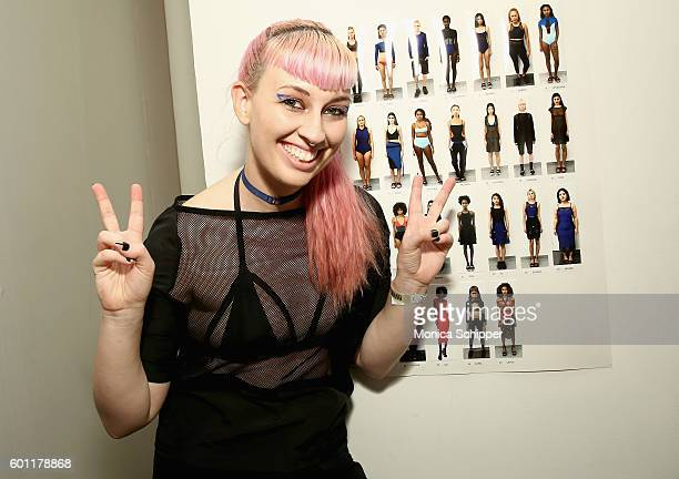 Fashion designer Becca McCharen attends the Chromat fashion show during New York Fashion Week at Milk Studios on September 9 2016 in New York City