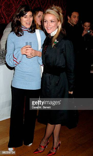 Fashion designer Bella Freud and Daphne Guinness attend the private view and champagne reception for 'Diana Princess Of Wales By Mario Testino' at...