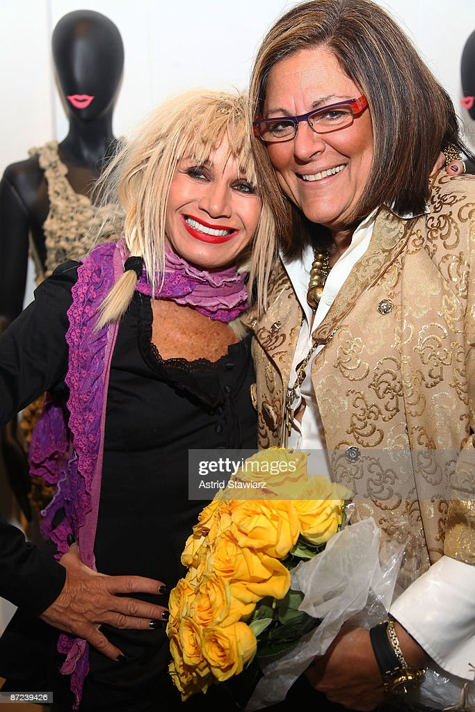 Fashion designer Betsey Johnson and Senior Vice President of IMG Fashion Fern Mallis attend the 10th annual Parsons fashion studies line debut at the Lord And Taylor rooftop on May 14, 2009 in New York City.