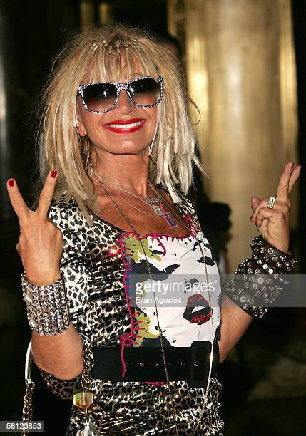 Fashion designer Betsey Johnson arrives at the 9th Annual Ace Awards Gala at Cipriani's November 8 2005 in New York City