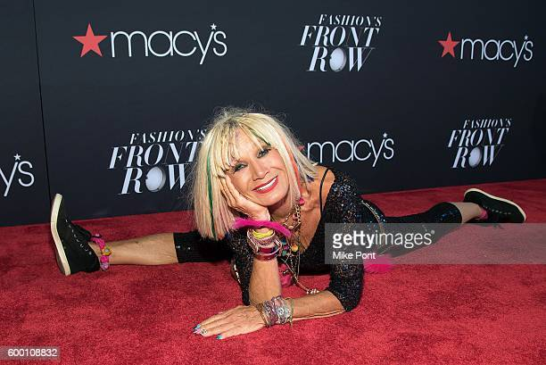 Fashion designer Betsey Johnson attends Macy's Fashion's Front Row during September 2016 New York Fashion Week at The Theater at Madison Square...