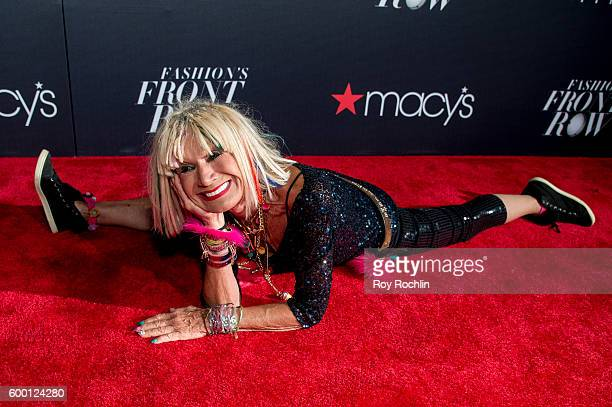 Fashion designer Betsey Johnson attends Macy's Presents Fashion's front row during 2016 New York Fashion Week at The Theater at Madison Square Garden...