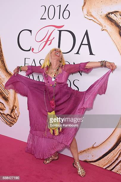 Fashion designer Betsey Johnson attends the 2016 CFDA Fashion Awards at the Hammerstein Ballroom on June 6 2016 in New York City