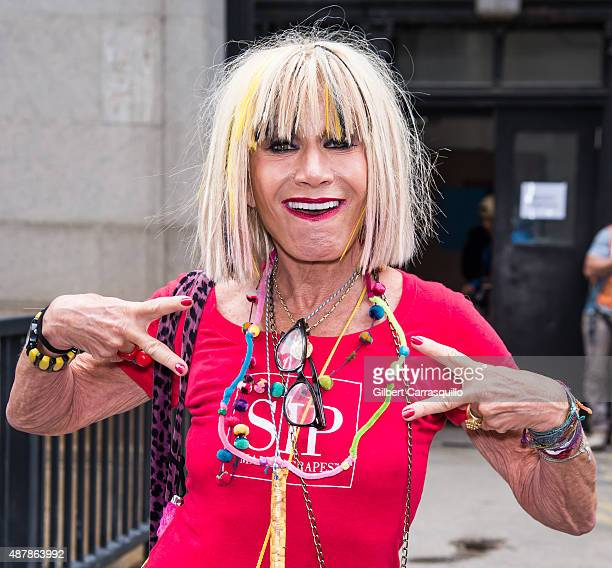 Fashion designer Betsey Johnson is seen arriving at Betsey Johnson fashion show during Spring 2016 New York Fashion Week on September 11 2015 in New...