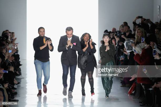 Fashion designer Bibhu Mohapatra walks the runway at Bibhu Mohapatra during New York Fashion Week The Shows at Gallery 3 Skylight Clarkson Sq on...