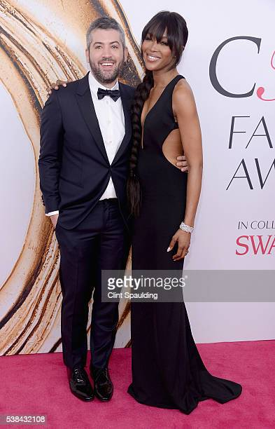Fashion designer Brandon Maxwell and model Naomi Campbell attendthe 2016 CFDA Fashion Awards at the Hammerstein Ballroom on June 6 2016 in New York...
