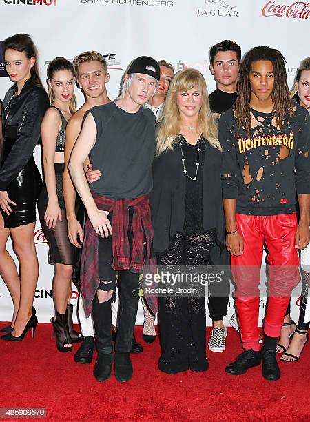 Fashion designer Brian Lichtenberg Daphna Ziman and models attend the Accelerate4Change charity event presented by Dr Ben Talei Cinemoi on August 29...