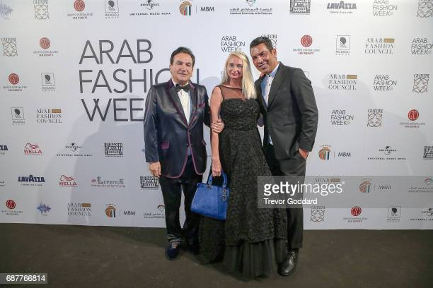 Fashion Designer Bruno Caruso Privee Antonio Rubel and guest attend the Arab Fashion Week Ready Couture Resort 2018 Gala Dinner on May 202017 at...