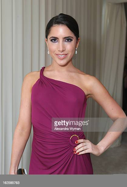 Fashion designer Caren Brooks attends Grey Goose at 21st Annual Elton John AIDS Foundation Academy Awards Viewing Party at West Hollywood Park on...