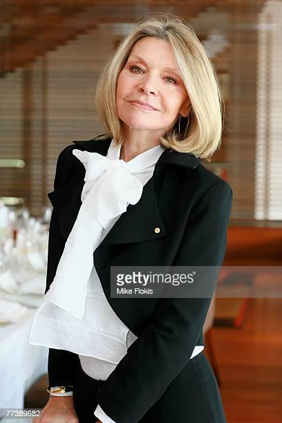 Fashion Designer Carla Zampatti attends the launch of the new Australia Post corporate uniform designed by Carla Zampatti at Aria Restaurant on...