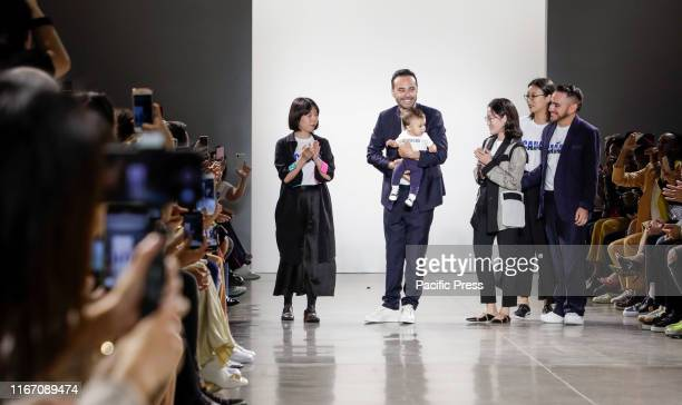 Fashion designer Carlos Campos walks runway finale for Carlos Campos Spring/Summer 2020 mens collection during New York Fashion Week at Spring...