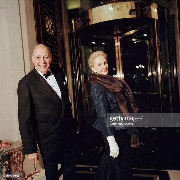 Fashion designer Carolina Herrera and husband Reinaldo Herrera are photographed at the Crillon Debutante Ball for Vanity Fair Magazine on November 22...