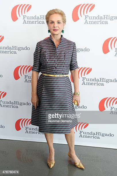 Fashion Designer Carolina Herrera attends FundaHigado America Foundation Benefit at The Glasshouses on June 11 2015 in New York City
