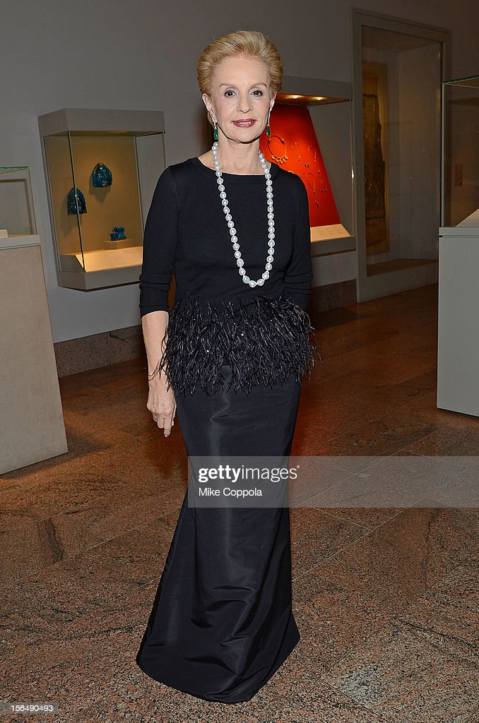 Fashion designer Carolina Herrera attends the 2012 Apollo Circle Benefit at the Metropolitan Museum of Art on November 15, 2012 in New York City.