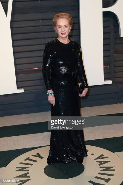 Fashion designer Carolina Herrera attends the 2017 Vanity Fair Oscar Party hosted by Graydon Carter at the Wallis Annenberg Center for the Performing...