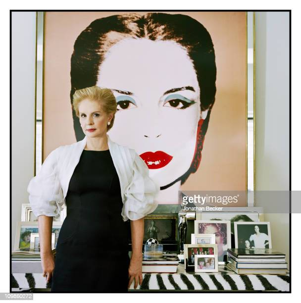 Fashion designer Carolina Herrera is photographed at her atelier for Vogue Espana on May 5, 2010 in New York City. Published image.