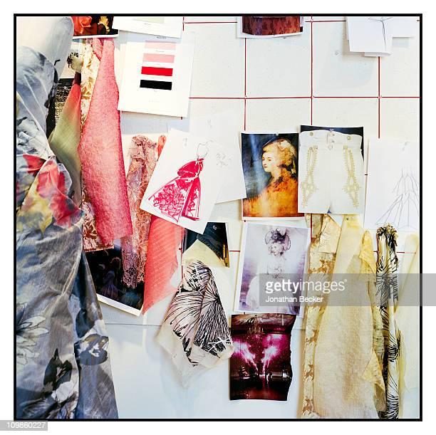 Fashion designer Carolina Herrera's fashion board is photographed for Vogue Espana on May 5, 2010 in New York City. Published image.