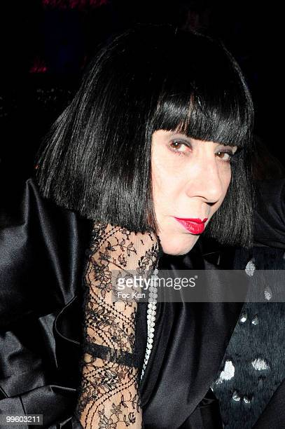Fashion designer Chantal Thomas attends the 'Alice Au Pays des Merveilles' Celebration of the 4th Million Spectators at L'Arc Club on April 29 2010...