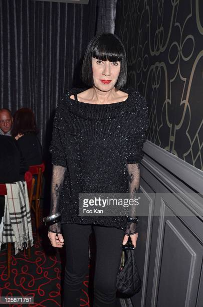 Fashion designer Chantal Thomas attends the Russian New Year Dinner Party hosted by Smirnoff at the Castel Club on January 13 2011 in Paris France