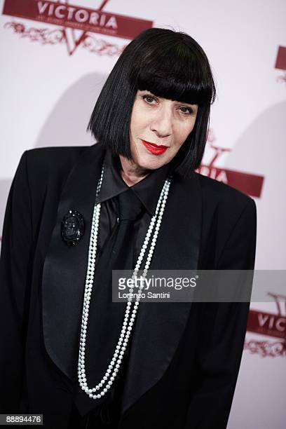 Fashion Designer Chantal Thomass attends the Young Victoria Movie Premiere at Cinema UGC Normandie on July 7 2009 in Paris France