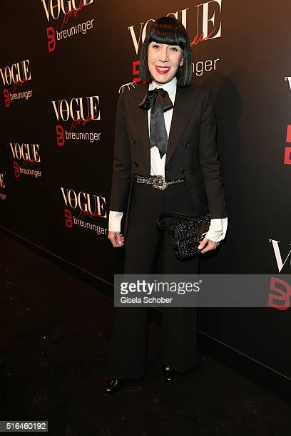 Fashion designer Chantal Thomass during the 'Vogue loves Breuninger' fashion event on March 18 2016 in Stuttgart Germany