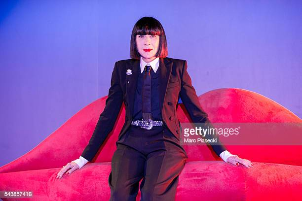 Fashion designer Chantal Thomass poses as the new collaborator for the next show 'Dessous Dessus' at Le Crazy Horse on June 30 2016 in Paris France