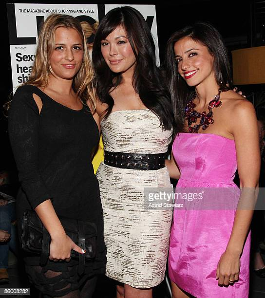 Fashion designer Charlotte Ronson actress Lindsay Price and Shoshanna Gruss attend the Lucky Magazine celebration for the launch of Made With Love at...