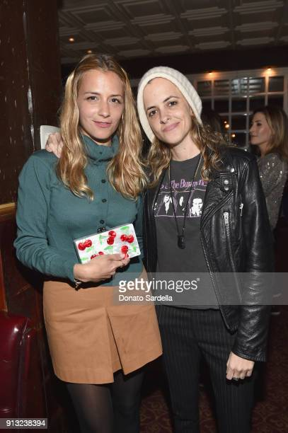 Fashion designer Charlotte Ronson and DJ Samantha Ronson attend Edie Parker's LA Dinner Party at La Dolce Vita on February 1 2018 in Beverly Hills...