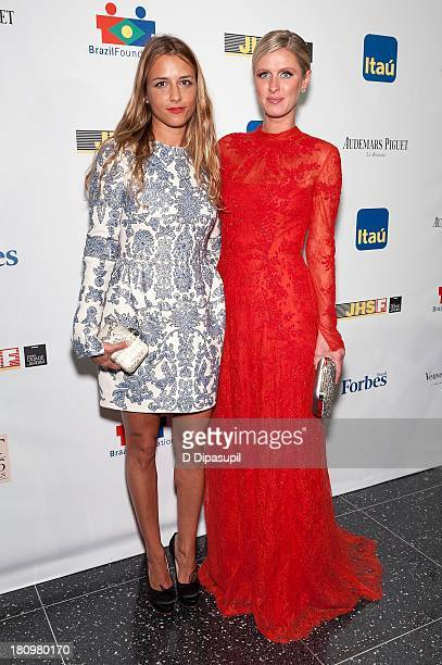 Fashion designer Charlotte Ronson and Nicky Hilton attend the 11th Brazil Foundation NYC gala at The Museum of Modern Art on September 18 2013 in New...