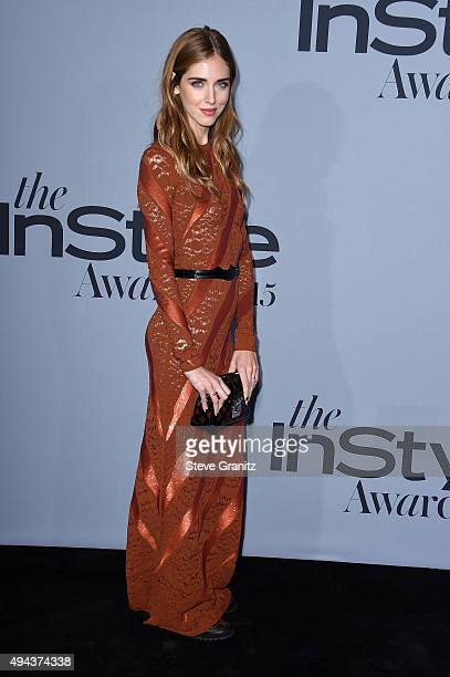 Fashion designer Chiara Ferragni attends the InStyle Awards at Getty Center on October 26, 2015 in Los Angeles, California.