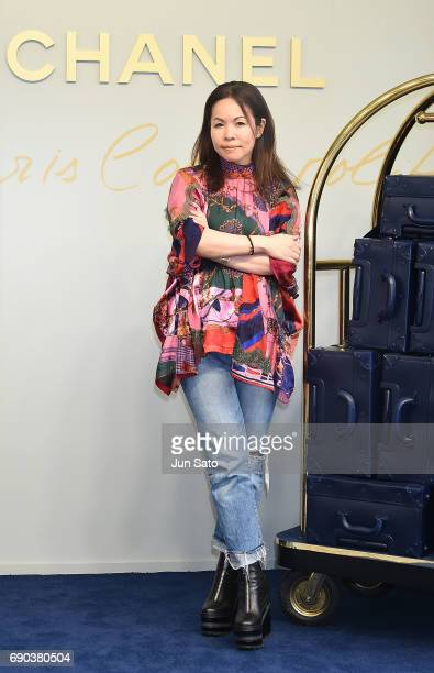 Fashion designer Chitose Abe attends the CHANEL Metiers D'art Collection Paris Cosmopolite show at the Tsunamachi Mitsui Club on May 31 2017 in Tokyo...
