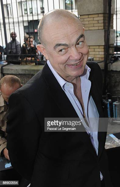 Fashion Designer Christian Lacroix attends the Givenchy Haute Couture A/W 2010 fashion show at Parc Georges Brassens on July 7 2009 in Paris France