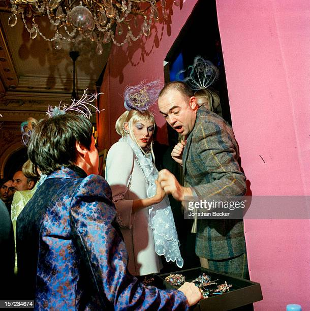 Fashion designer Christian Lacroix is photographed for Vanity Fair Magazine on January 18 1998 at Le Grand Hotel in Paris France PUBLISHED IN...