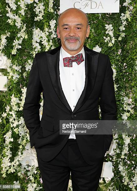 Fashion designer Christian Louboutin arrives at the official 2016 CFDA Fashion Awards after party hosted by Samsung 837 in NYC on June 6 2016 in New...