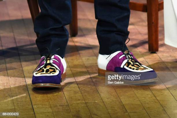 Fashion designer Christian Louboutin shoe detail at the 92Y Fashion Icons conversation at 92nd Street Y on May 17 2017 in New York City