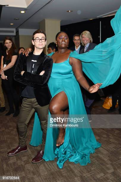 Fashion designer Christian Siriano and actress Danielle Brooks pose at the Christian Siriano fashion show during New York Fashion Week at Grand Lodge...