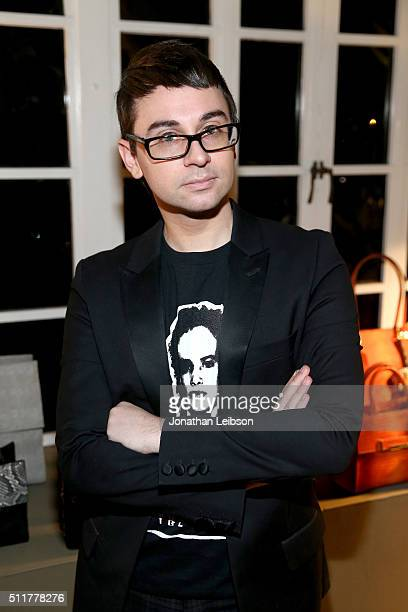 Fashion designer Christian Siriano attends a dinner for the launch of the first luxury handbag collection by Christian Siriano at Chateau Marmont on...