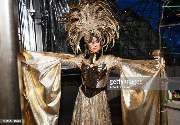 Fashion designer Christian Siriano dressed as Everything at The Misshapes Halloween party hosted by Ketel One FamilyMade Vodka on October 27 2018 in...