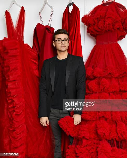 Fashion designer Christian Siriano is photographed for Rhapsody Magazine on March 21 2018 in his showroom in New York City PUBLISHED IMAGE