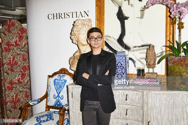 Fashion designer Christian Siriano is photographed for Rhapsody Magazine on March 21 2018 in his showroom in New York City
